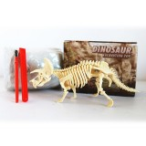 Assembled Triceratops Skeleton Archaeological Excavation Toys Simulation Fossil Model Manual Toys