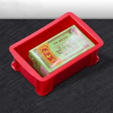5 PCS Thick Multi-function Material Box Flat Plastic Parts Box Tool Box, Size: 15.6cm X 10.1cm X 5.3cm (Red)