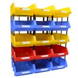 2 PCS Thickened Oblique Plastic Box Combined Parts Box Material Box, Random Color, Size: 25cm X 15cm X 12cm