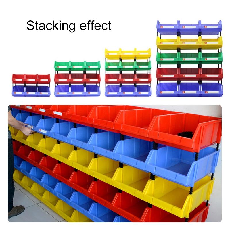 Thickened Oblique Plastic Box Combined Parts Box Material Box, Random Color, Size: 35cm X 20cm X 15cm