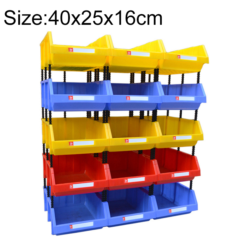 Thickened Oblique Plastic Box Combined Parts Box Material Box, Random Color, Size: 40cm X 25cm X 16cm
