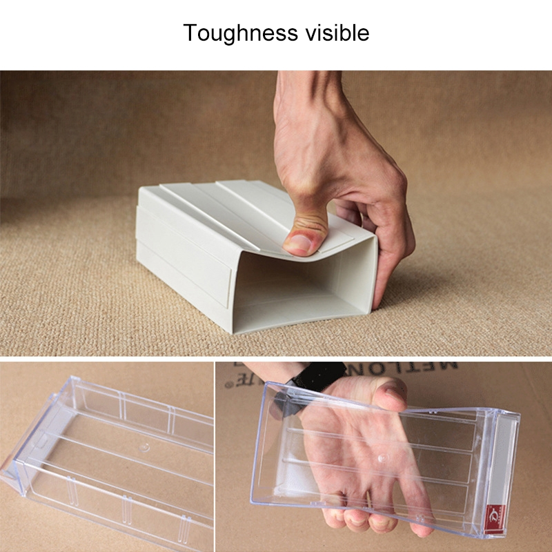 2 PCS Thickened Combined Plastic Parts Cabinet Drawer Type Component Box Building Block Material Box Hardware Box, Random Color, Size: 18cm X 9.5cm X 5cm