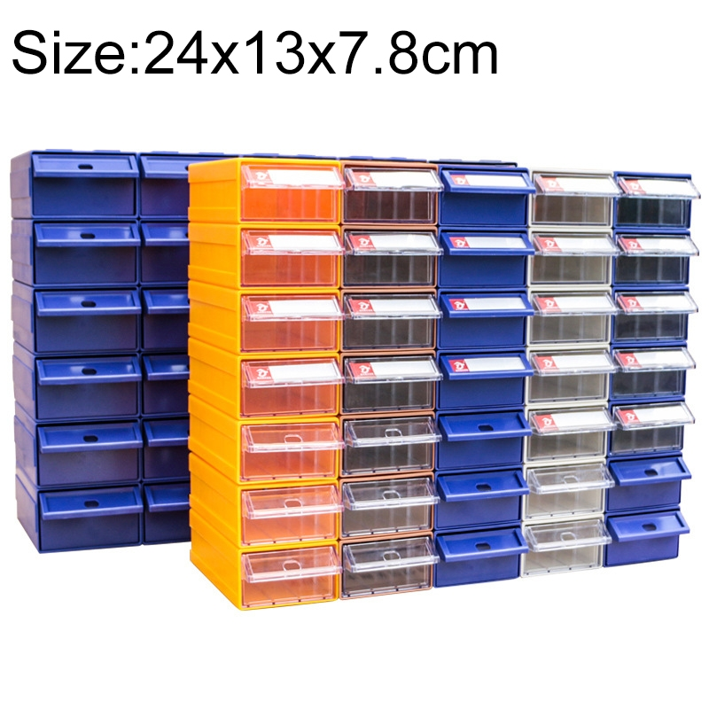 Thickened Combined Plastic Parts Cabinet Drawer Type Component Box Building Block Material Box Hardware Box, Random Color, Size: 24cm X 13cm X 7.8cm