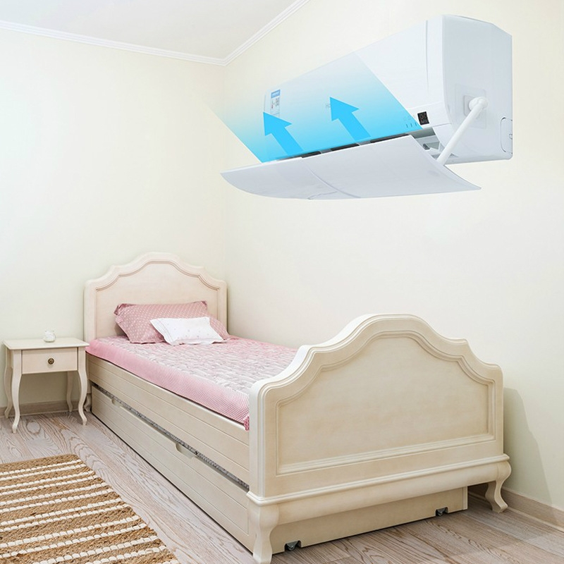 Air Conditioning Wind Deflector Shroud Bedroom Wall-Mounted Baby Universal Anti-Straight Blowing Air Conditioning Windshield (White)