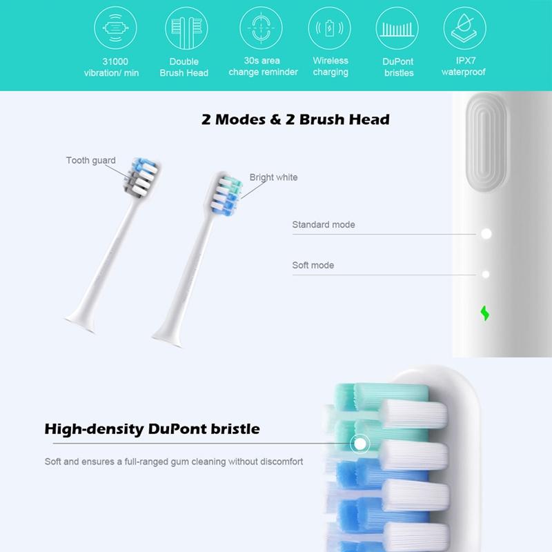 Original Xiaomi Mijia Ultrasonic Waterproof Electric Toothbrush (White)
