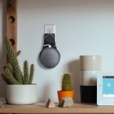 Google Home Mini Wall Mount Hold Smart Speaker Wall Mounted Wall Bracket for Household Wall Hanging (Black)