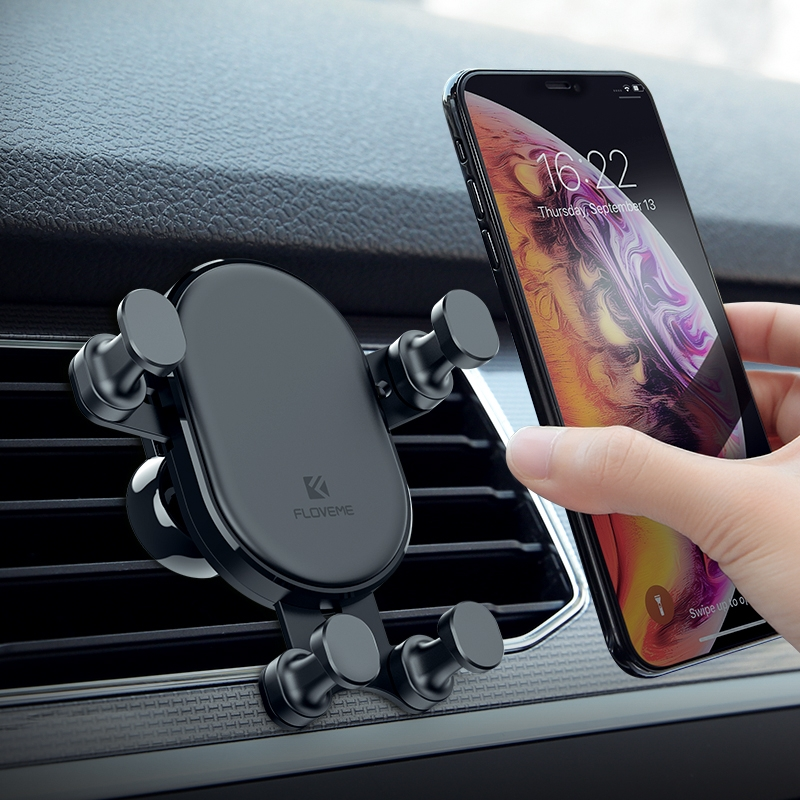 FLOVEME YXF149782 Four-angle Gravity Car Mobile Phone Bracket Air Outlet Mobile Phone Bracket 360 Degree Rotating Mobile Phone Bracket