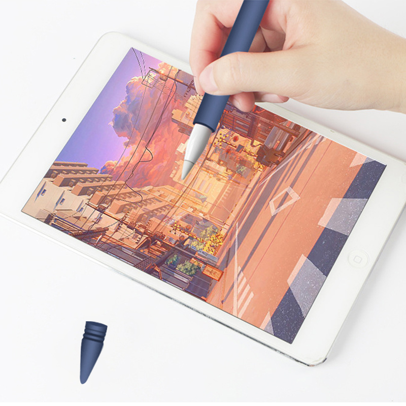 Apple Pen Cover Anti-lost Protective Cover for Apple Pencil (Blue)