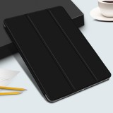 Horizontal Flip Ultra-thin Double-sided Clip Magnetic PU Leather Case for iPad Pro 11 inch (2018), with Three-folding Holder & Sleep / Wake-up Function (Black)