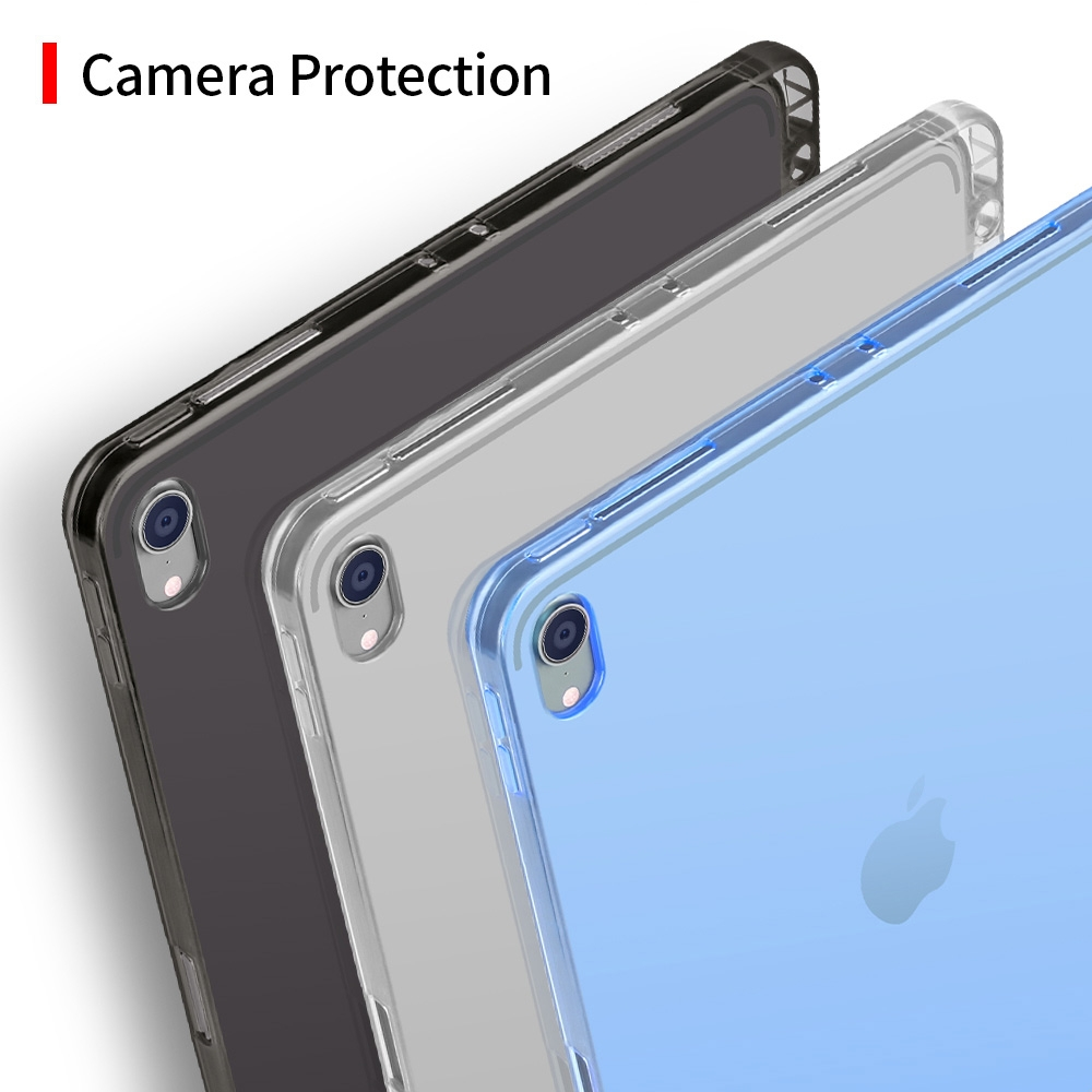Highly Transparent TPU Soft Protective Case for iPad Pro 11 inch (2018), with Pen Slot (Transparent)
