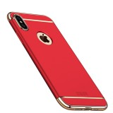 MOFI Three Stage Splicing Full Coverage PC Case for iPhone XS Max (Red)
