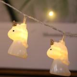 3m Cartoon Unicorn Shape USB Plug Romantic LED String Holiday Light, 20 LEDs Teenage Style Warm Fairy Decorative Lamp for Christmas, Wedding, Bedroom (Warm White)