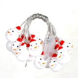 1.5m Snowman LED Holiday String Light, 10 LEDs 2 x AA Batteries Box Powered Warm Fairy Decorative Lamp for Christmas, Party, Bedroom (Warm White)