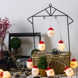 1.5m Santa Claus LED Holiday String Light, 10 LEDs 2 x AA Batteries Box Powered Warm Fairy Decorative Lamp for Christmas, Party, Bedroom (Warm White)