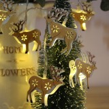 1.8m Painted Elk LED Holiday String Light, 10 LEDs 2 x AA Batteries Box Powered Warm Fairy Decorative Lamp for Christmas, Party, Bedroom (Warm White)