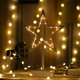 Star Shape Romantic LED String Holiday Light with Holder, Warm Fairy Decorative Lamp Night Light for Christmas, Wedding, Bedroom (Warm White)