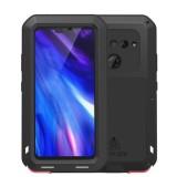 LOVE MEI Powerful Dustproof Shockproof Splashproof Silicone+Metal Combination Case for LG V40 (Black)