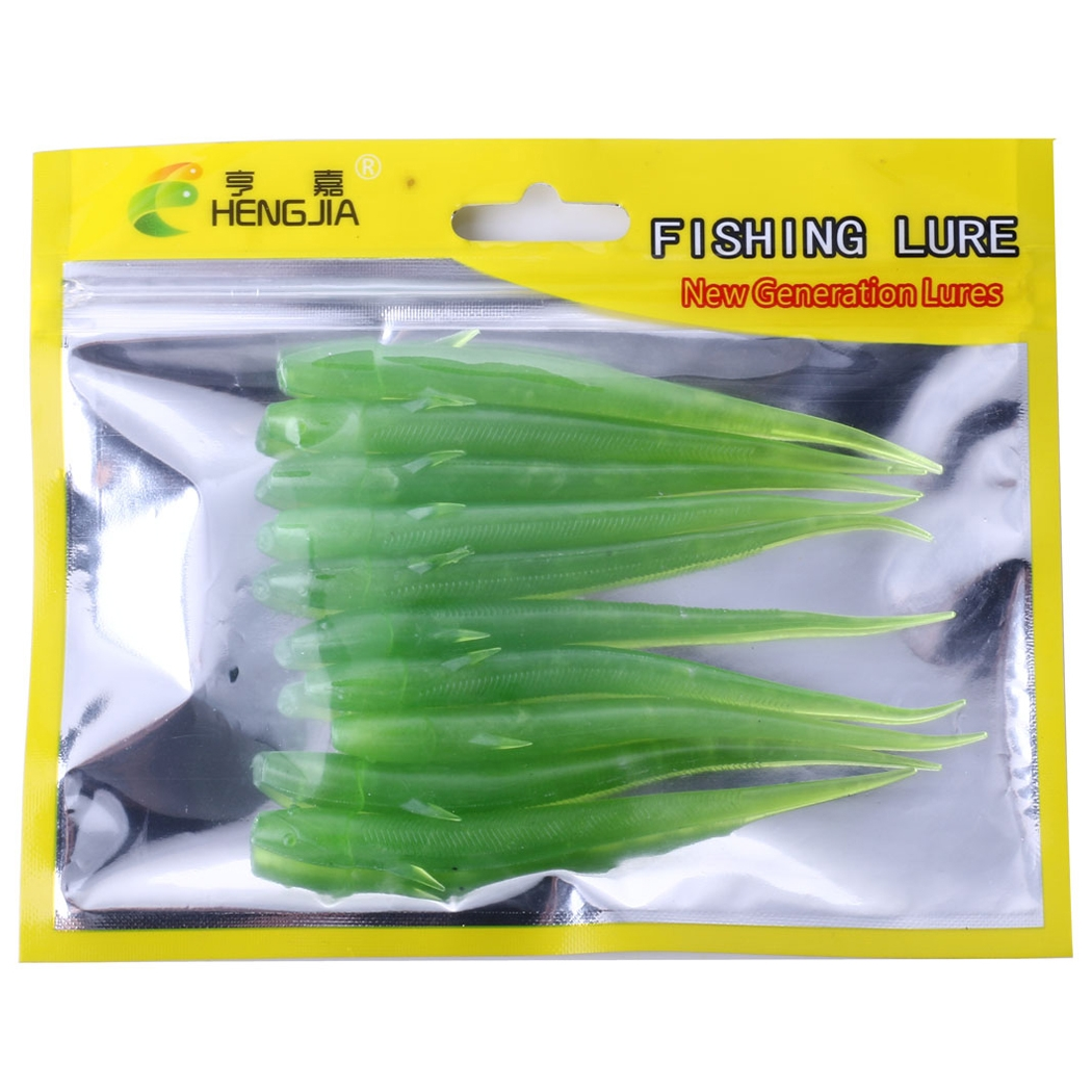 SO02610 10 PCS 10.5cm/3.5g Loach Soft Bait Soft Bait for Sea Fishing