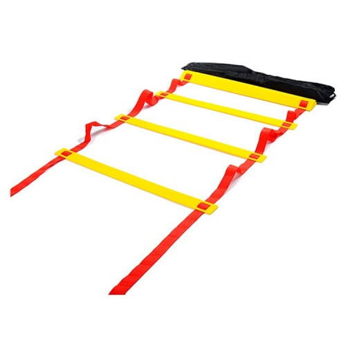 6 Meters 12 Knots Thick Section Pace Training Tough Durable Soft Ladder Football Training Wear Resistant Ladder Rope (Yellow)