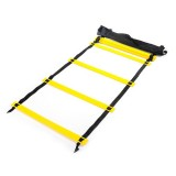 8 Meters 16 Knots Thick Section Pace Training Tough Durable Soft Ladder Football Training Wear Resistant Ladder Rope (Yellow)
