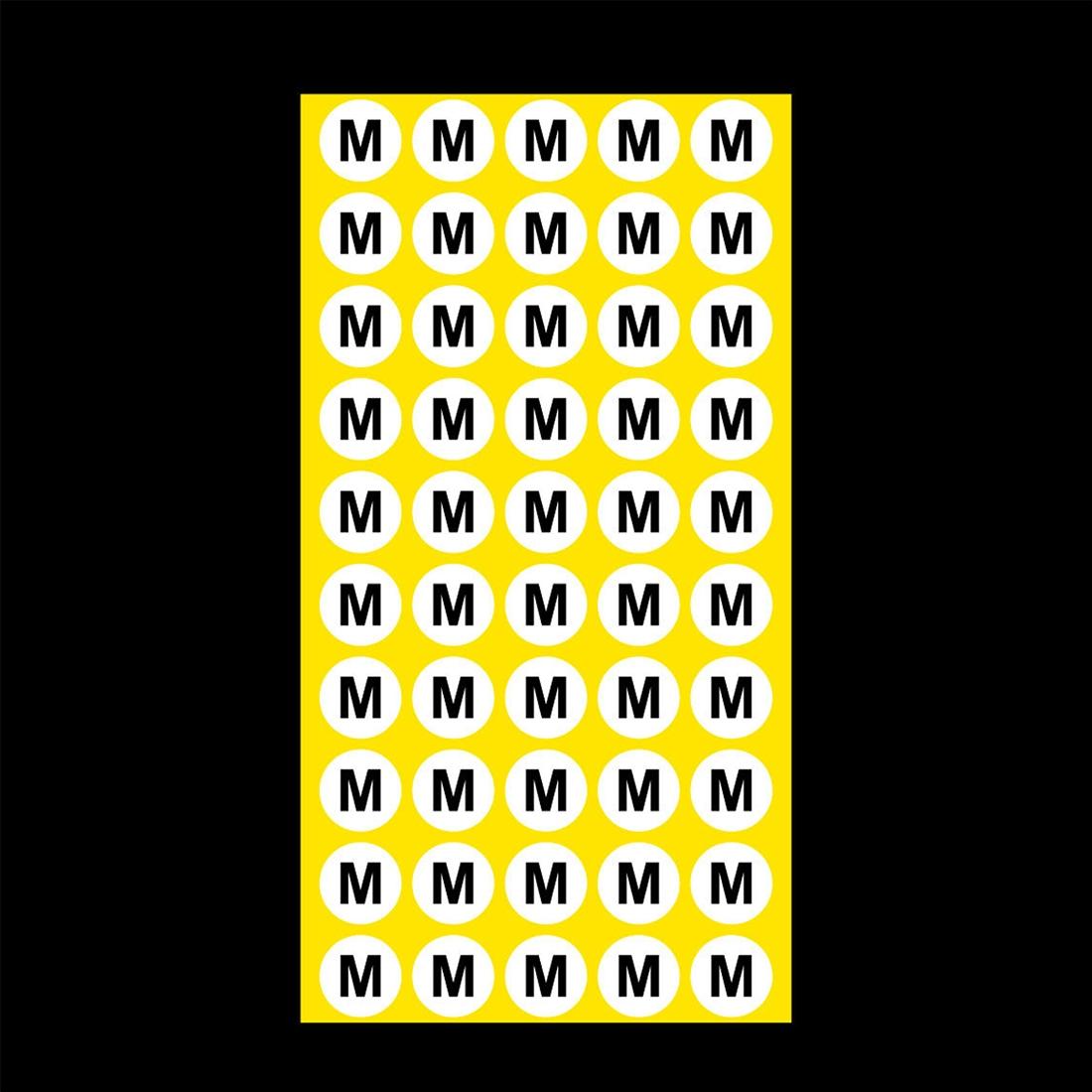 1000 PCS Round Shape Size Sticker Clothes Size Label, Size: M