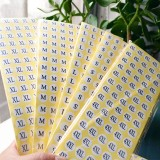 1000 PCS Round Shape Size Sticker Clothes Size Label, Size: XXL