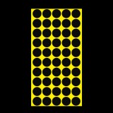 1000 PCS Round Shape Self-adhesive Colorful Mark Sticker Mark Label (Black)