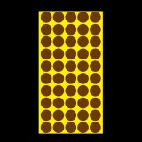 1000 PCS Round Shape Self-adhesive Colorful Mark Sticker Mark Label (Coffee)