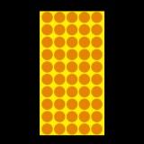 1000 PCS Round Shape Self-adhesive Colorful Mark Sticker Mark Label (Orange)