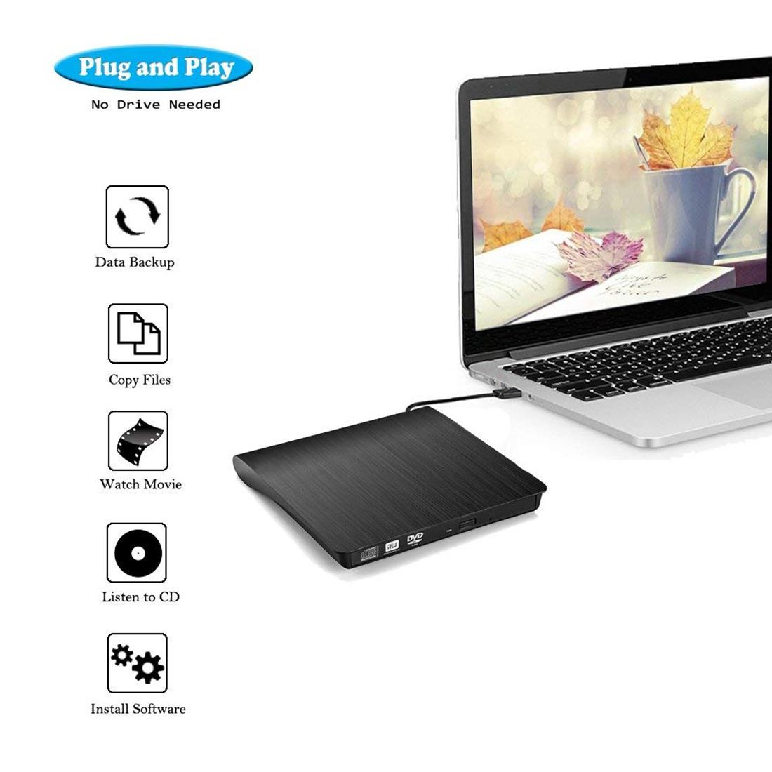 Brushed Texture USB 3.0 POP-UP Mobile External DVD-Rw DVD / CD Rewritable Drive External ODD & HDD Device