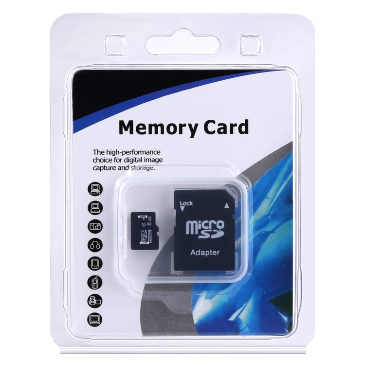 8GB High Speed Class 10 Micro SD(TF) Memory Card from Taiwan (100% Real Capacity) (Black)