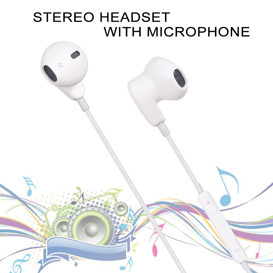 ME563-T 1.2m Wired In Ear USB-C / Type-C Interface Headset with Mic, For Huawei, Xiaomi and Other Smartphones with USB-C / Type-C Interface (White)