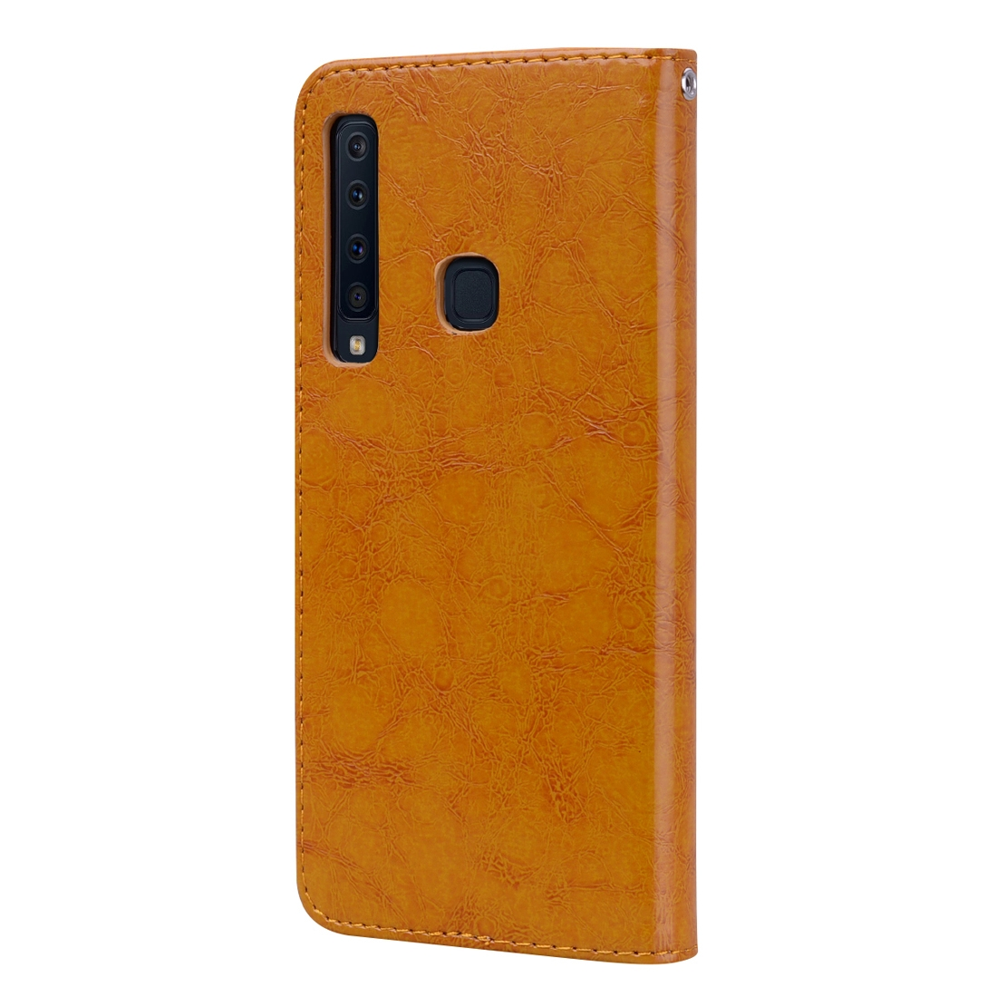 Business Style Oil Wax Texture Horizontal Flip Leather Case for Samsung Galaxy A9 (2018) / A9s, with Holder & Card Slots & Wallet c (Brown)