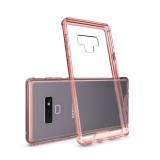Acrylic + TPU Shockproof Transparent Armor Protective Case for Galaxy Note9 (Rose Red)