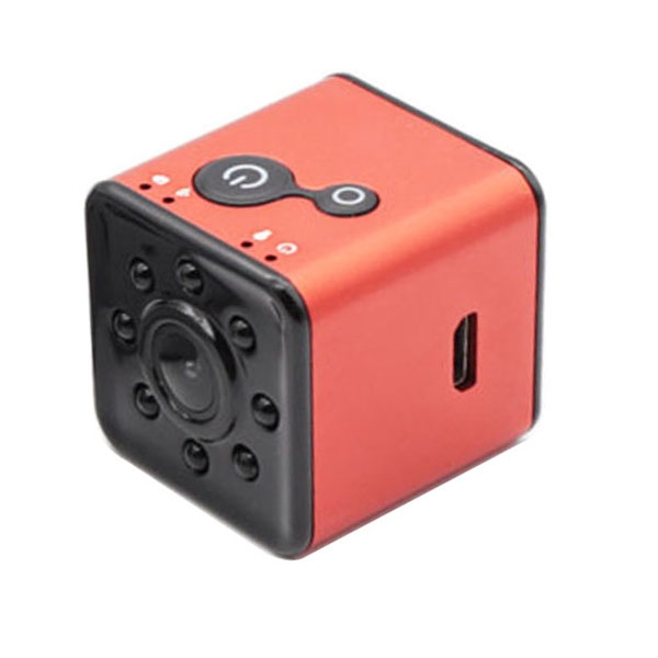 SQ13 Ultra-Mini DV Pocket WiFi 1080P 30fps Digital Video Recorder Camera Camcorder with 30m Waterproof Case, Support IR Night Vision (Red)