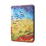 Van Gogh Oil Painting Pattern Horizontal Flip PU + TPU Leather Protective Case for Amazon Kindle Paperwhite 4 (2018), with Sleep & Wake-up Funtion