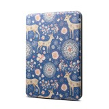 Reindeer Blue Pattern Horizontal Flip PU + TPU Leather Protective Case for Amazon Kindle Paperwhite 4 (2018), with Sleep & Wake-up Funtion