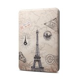 Eiffel Tower Pattern Horizontal Flip PU + TPU Leather Protective Case for Amazon Kindle Paperwhite 4 (2018), with Sleep & Wake-up Funtion
