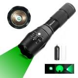 AloneFire E17 300Lumens Zoomable Long Range Green Light Flashlight Green Hunting Light