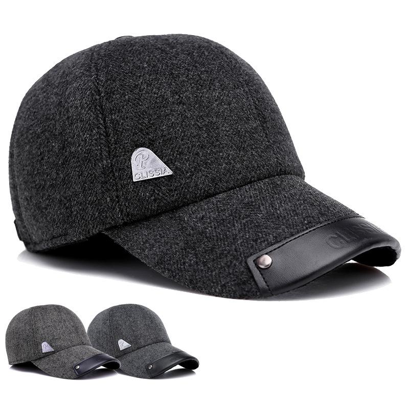 fc8ffc7326b Men Winter Outdoor Sports Baseball Cap Ears Warmer Thicken Adjustable  Cotton Peaked Cap