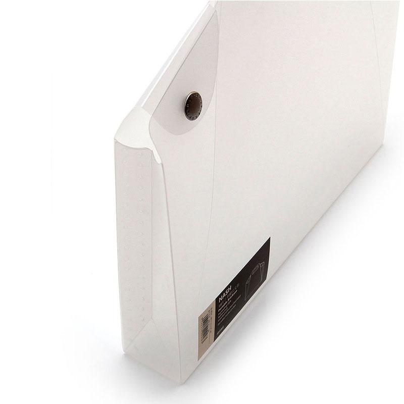 A4 Durable Transparent File Folder Files Bag Document Folder Double Buckle School Office Appliance