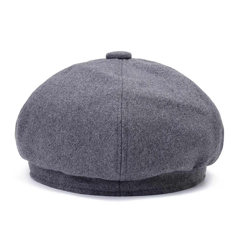 Mens Middle-aged Windproof Thicken Felt Beret Hat Outdoor Warm Painter Cabbie Newsboy Caps