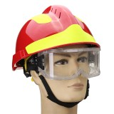 Safurance Rescue Helmet And Goggles Fire Fighter Protective Glasses Safety Protector Workplace
