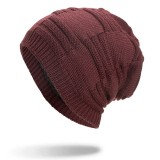 Winter Plus Velvet Thicken Hedging Cap Double Layers Earmuffs Knitted Beanie Hat