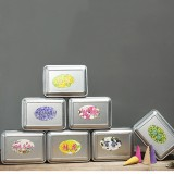 50Pcs/Box 7 Fragrances Backflow Incense Cone 15 Minutes Home Decor Fragrant Burner Censer Cones