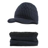 Outdoor Plus Velvet Knit Hat Scarf Set Spot Outdoor Winter Warm Ski Turtleneck Beanie Cap Earmuffs