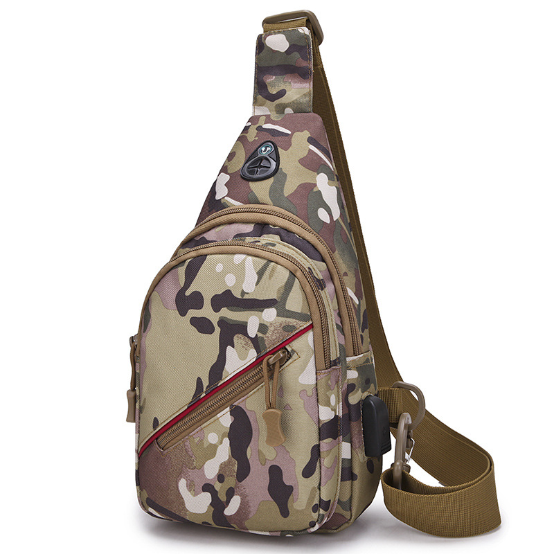 Waterproof Camouflage Outdoor Tactical Multi-functional Sling Bag Chest Bag Crossbody Bag For Men