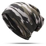Mens Camouflage Winter Plus Velvet Warm Slouchy Beanie Hat Casual Plus Size Earmuffs Skull Cap