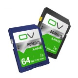 OV X-Rate C10 64GB Memory Card for DSLR Camera Photography Support 1080P 30FPS Video Taking