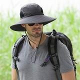 Men Plus Size Sunscreen Wide Brim UV Protection Fishing Hat Outdoor Summer Sun Hat